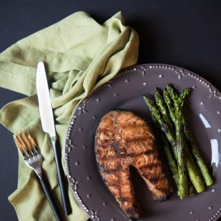 You have to try these Whole 30 compliant garam masala spiced salmon steaks. They are so healthy, easy, and yummy, and you can make them in under 15 minutes!