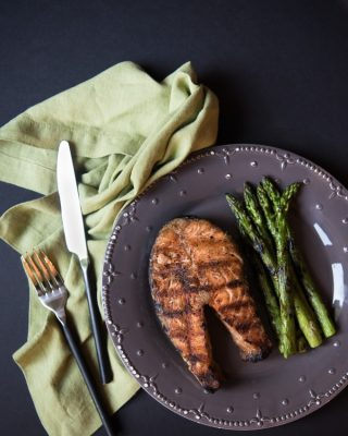 You have to try these Whole 30 compliant garam masala salmon steaks.  They are so healthy, easy, and yummy, and you can make them in under 15 minutes!