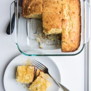 Your search for the ultimate cornbread recipe is over! This soft and slightly sweet cornbread is the best, most perfect cornbread ever. It's tender and moist and amazing with butter and dripping honey.