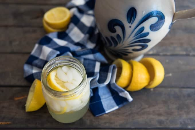 Sweet and tart and perfect for a hot summer day, especially when you have a bunch of lemons, there is nothing like fresh squeezed homemade lemonade!