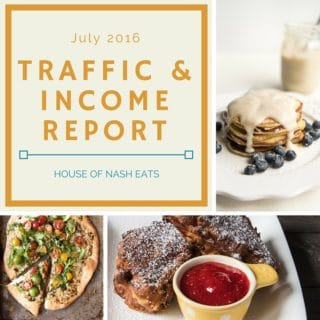 July 2016 Traffic & Income Report