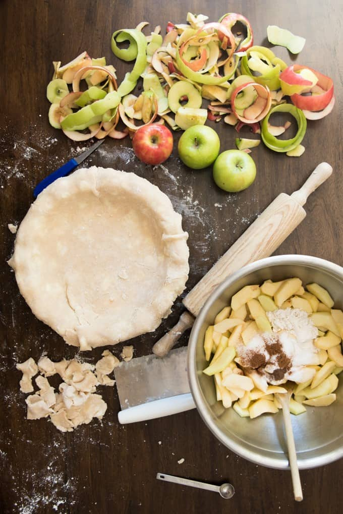Don't be intimidated by a homemade pie crust! This buttery, flaky perfect pie crust turns out great every time and is the perfect starting place for all your favorite pies.