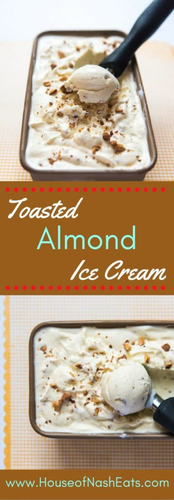 Toasted almond ice cream