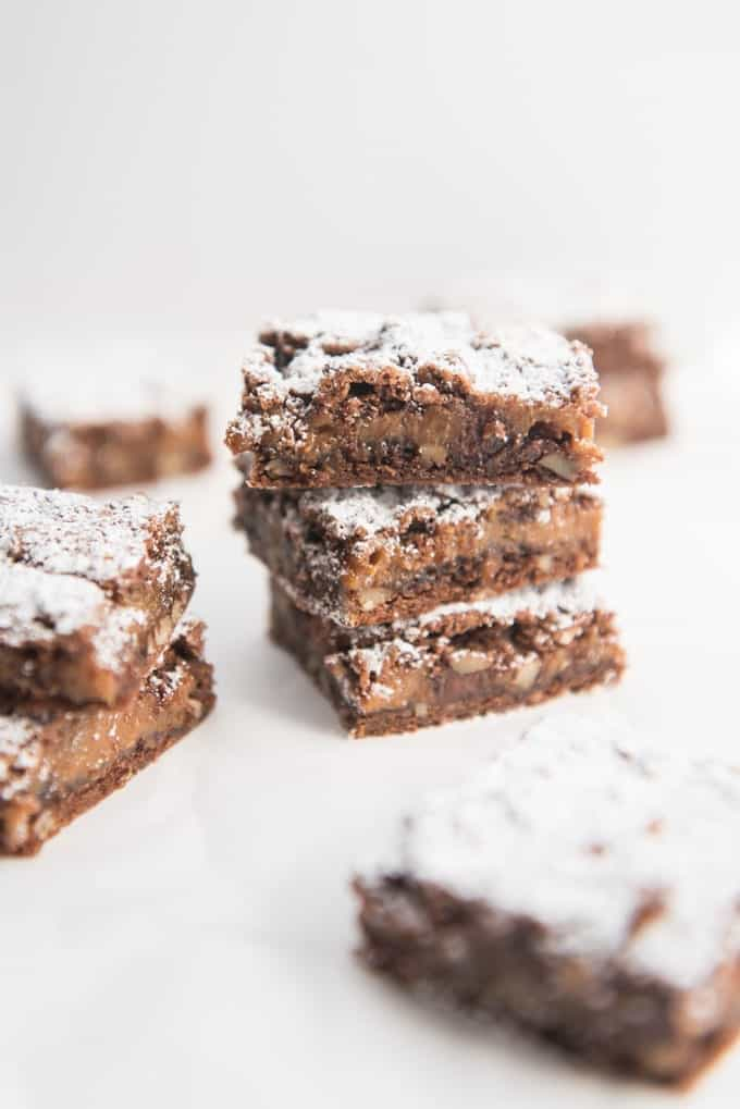 Easy Caramel Pecan Brownies - House of Nash Eats