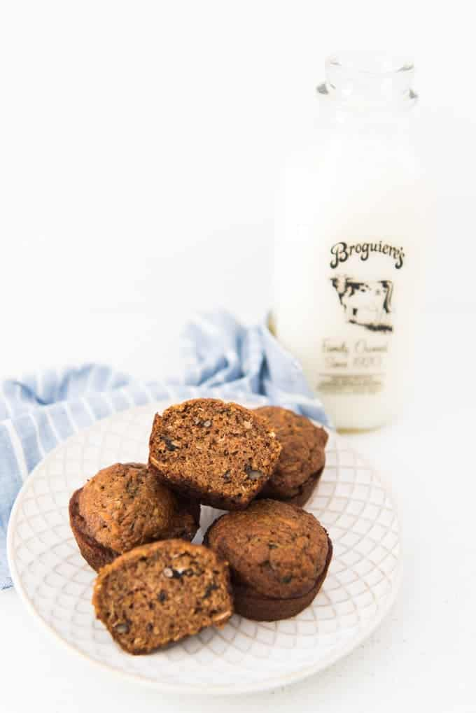 Morning Glory muffins are the BEST.  Loaded with carrots, zucchini, apple, pecans, coconut and whole wheat flour, they are great for breakfast or a healthy but oh-so-yummy snack.