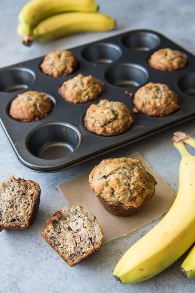 One Bowl Easy Banana Nut Muffins House Of Nash Eats