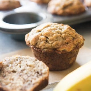 One-Bowl Easy Banana Nut Muffins