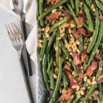 Green Beans with Bacon & Pine Nuts