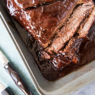 Slow Roasted Oven BBQ Beef Brisket