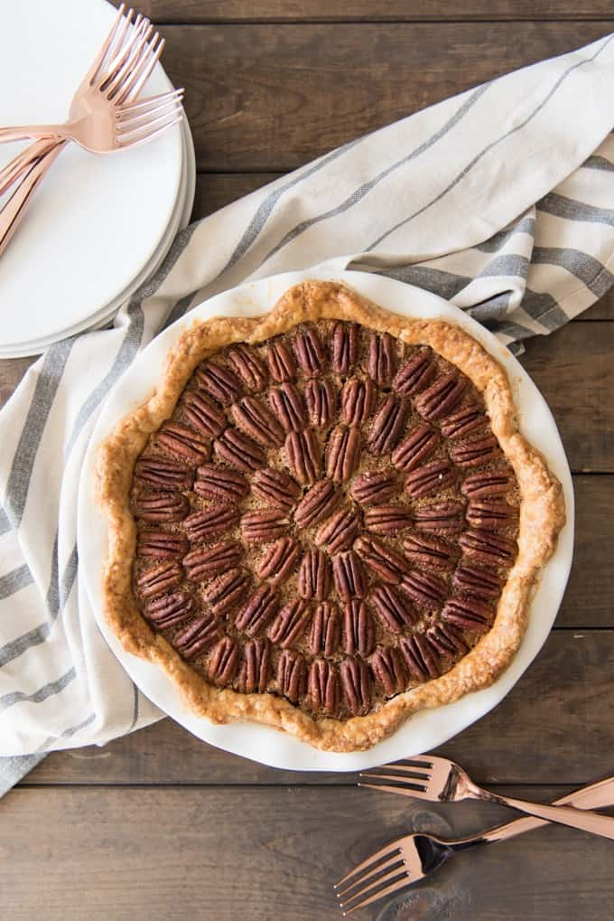Ooey-gooey, crunchy, sticky and sweet, Classic Southern Pecan Pie is one of my all-time favorite desserts! Perfect for Thanksgiving, BBQ's, Pi Day or any day in between!