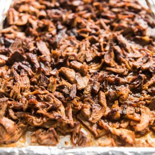 "These Crispy Mexican Slow Cooker Pork Carnitas are the best, easiest carnitas you will ever make! Tender, juicy shredded pork, filled with flavor and delicious crispy, caramelized ""burnt ends"" achieved by popping the shredded pork under the broiler, this is the perfect recipe for parties and large groups, and amazing in tacos, nachos, salads and burritos!"
