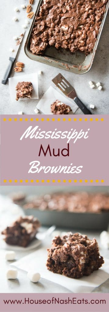 Gooey, and irresistible Mississippi Mud Brownies are loaded with marshmallows, coconut, pecans and fudge frosting. Stop what you are doing and go make these now!
