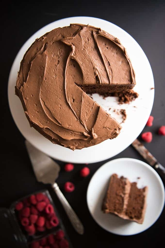 Devil's Food Chocolate Cake with Chocolate Frosting