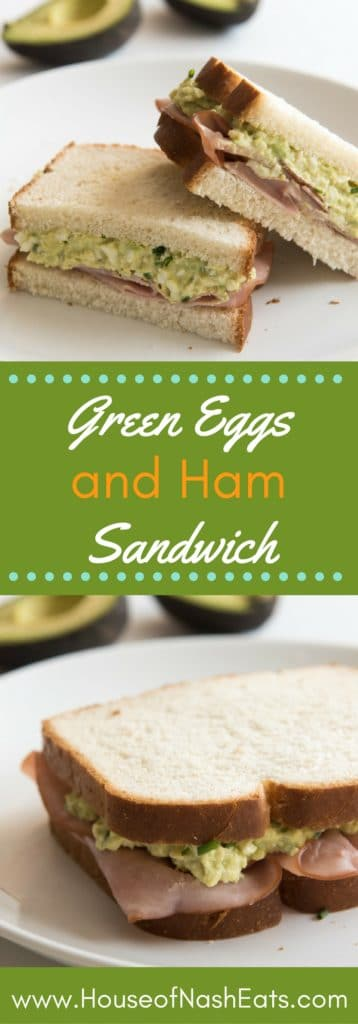 Inspired by one of our favorite children's books, this Green Eggs and Ham Sandwich is light, delicious, and perfect for Spring!