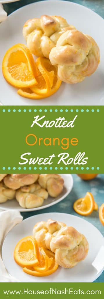 Soft, buttery rolls made with orange zest and a citrus glaze make these Knotted Orange Sweet Rolls the perfect choice for Easter brunch or Easter dinner!