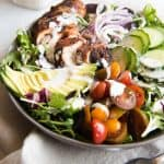 Grilled Cajun Chicken Salad with Creamy Cajun Dressing