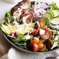 Grilled Cajun Chicken Salad with Creamy Cajun Dressing