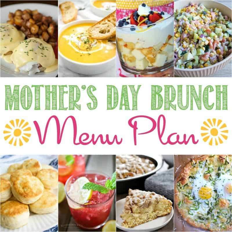 Celebrate Mom and Spring with this wonderful Mother's Day Brunch Menu Plan where I've gathered together recipes from some of my favorite food bloggers that are sure to make her feel special!
