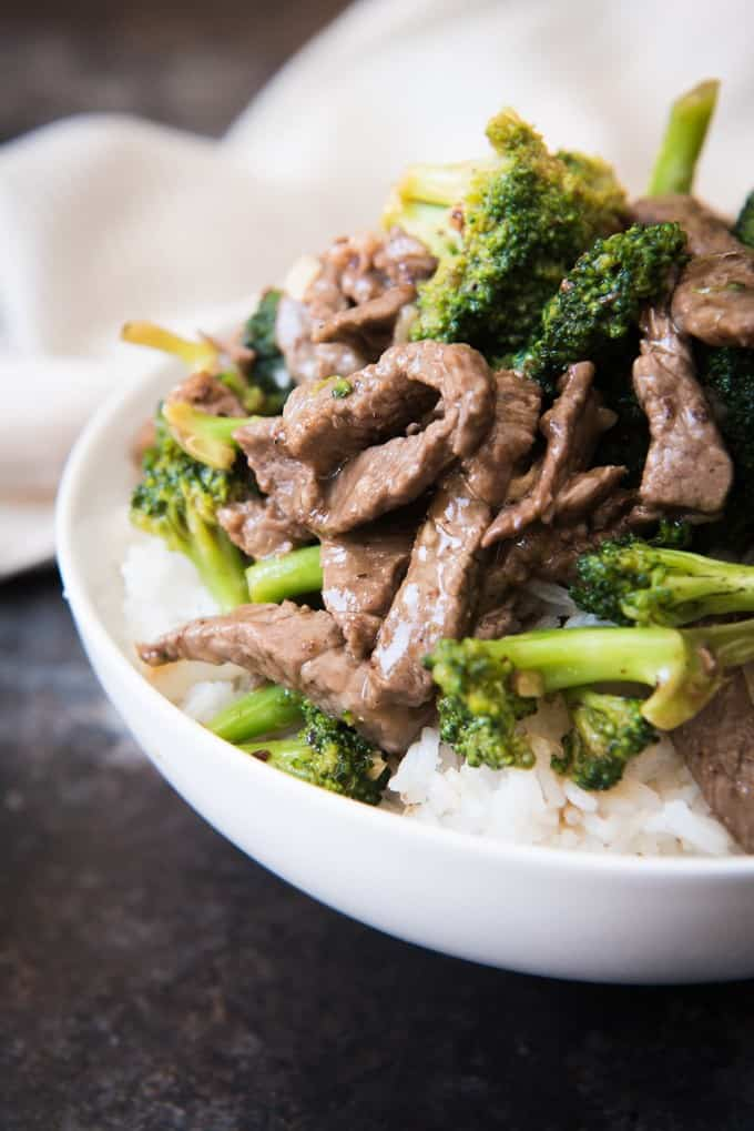 Easy classic chinese beef with broccoli house of nash eats this beef with broccoli has tender savory strips of thinly sliced beef with juicy forumfinder Choice Image