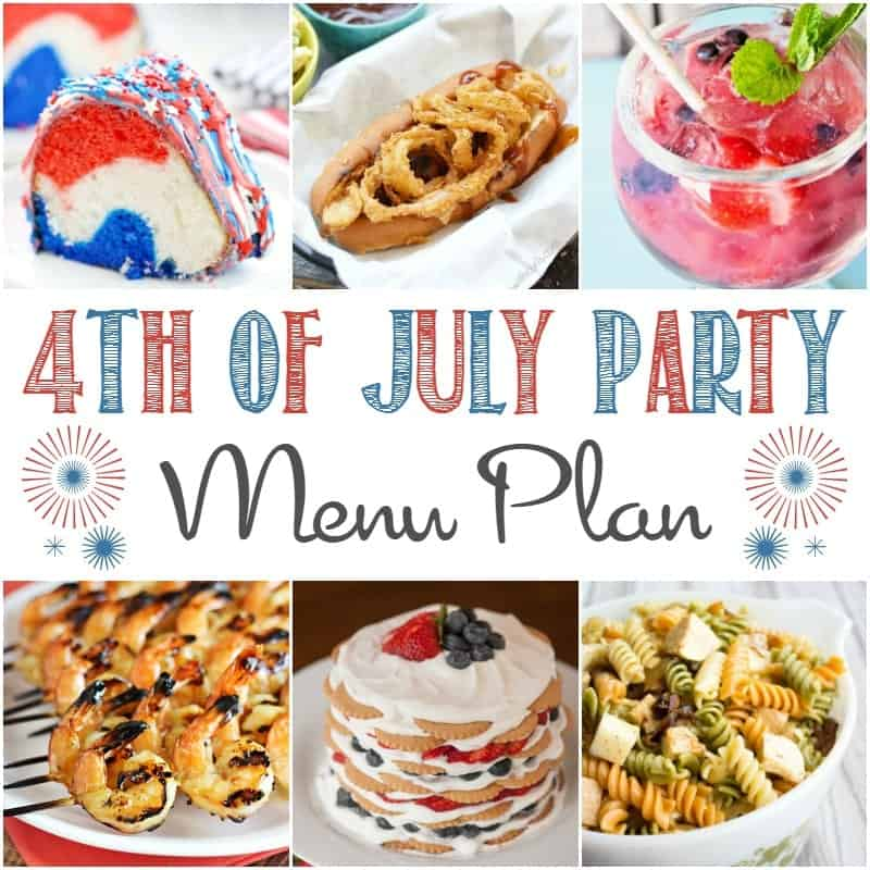 Celebrate Independence Day with a bang using this 4th of July Party Menu Plan to get your patriotic get-together off to a sizzling start!