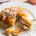 Fluffy Toasted Coconut Pancakes