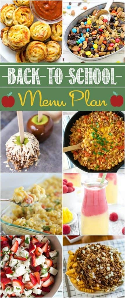 Back-to-School Party Menu Plan