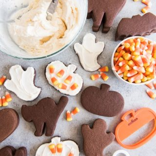 Chocolate Cut Out Sugar Cookies