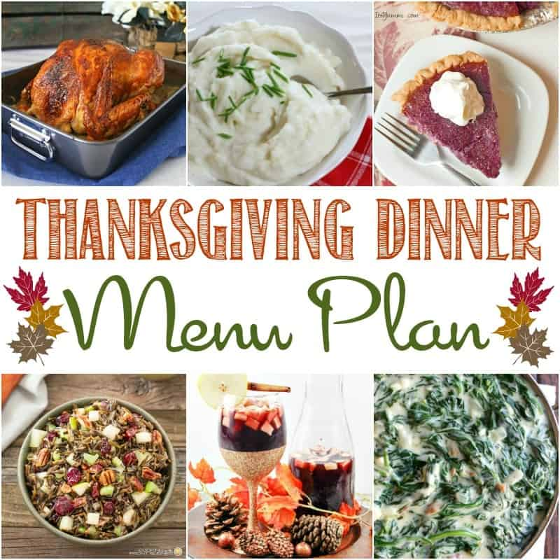 November is here and that means Turkey Day is right around the corner!  Start planning early with a little help from some of my favorite blogging friends and this Thanksgiving Dinner Menu Plan!