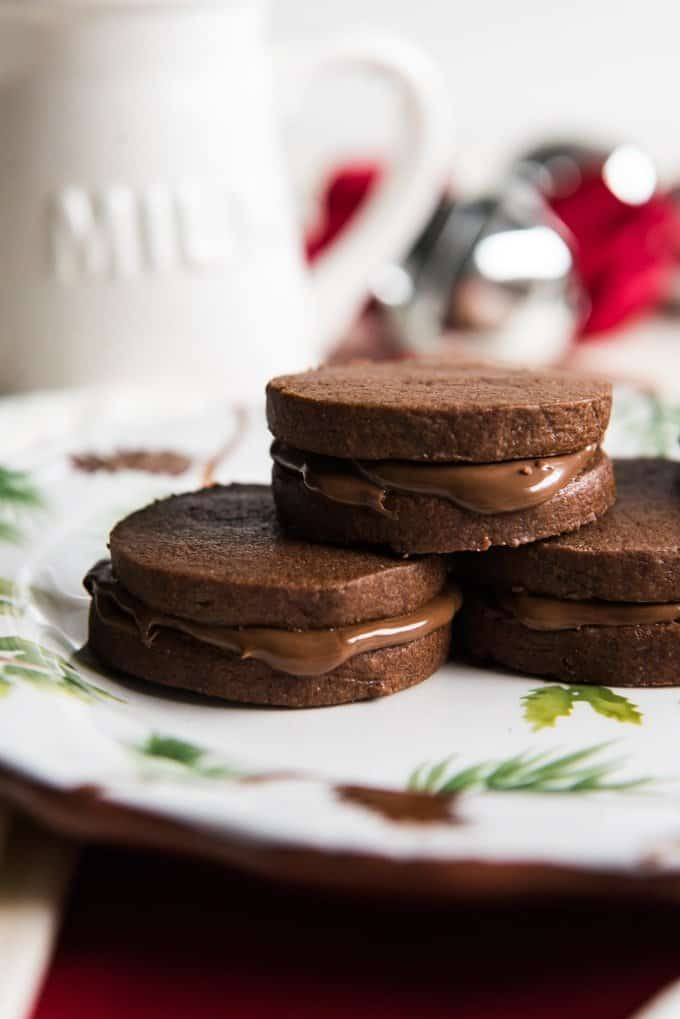 Double Chocolate Nutella Sandwich Cookies Christmascookies