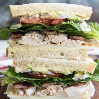 Turkey Bacon Avocado Sandwich with Kneaders Sauce