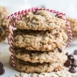 Toffee Oatmeal Chocolate Chip Cookies | #ChristmasCookies