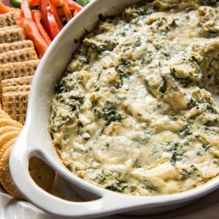 Healthier Hot Spinach and Artichoke Dip Recipe
