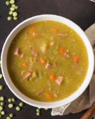While Split Pea Soup is decidedly less beautiful than most any other food I can think of with it's pea green color and chunks of diced ham and carrots in the thick, soup base, it has a wonderful, comforting savory flavor and warmth that more than makes up for it's appearance!