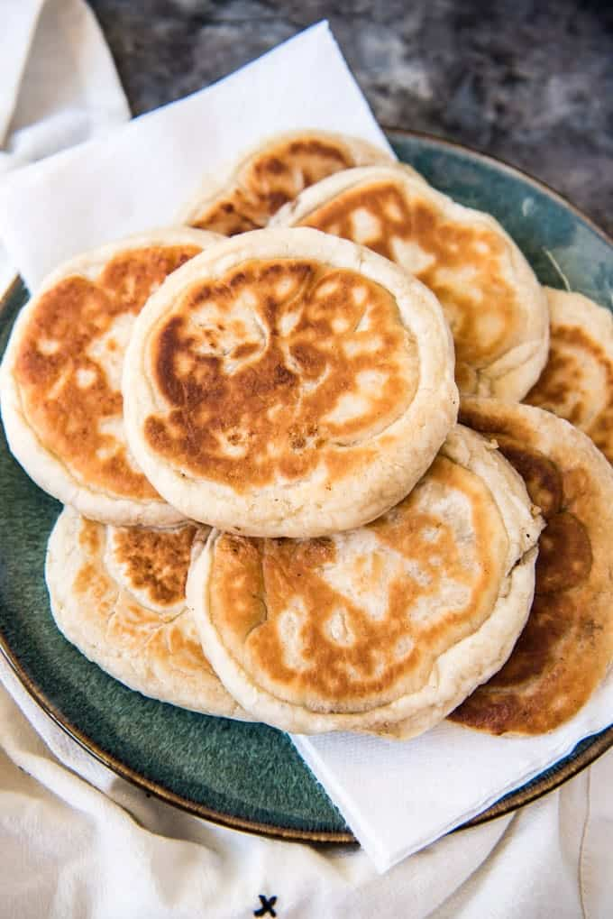 Hotteok (Korean Sweet Pancakes) is a popular Korean street food made from a simple yeast dough with a sweet syrupy filling made with brown sugar, cinnamon and walnuts.  It makes a tasty snack or dessert, and could even be enjoyed at breakfast!