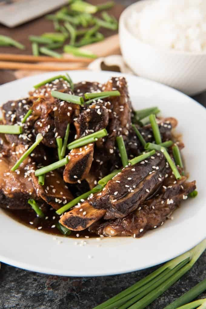 Slow Cooker Korean Beef Short Ribs (Kalbi)