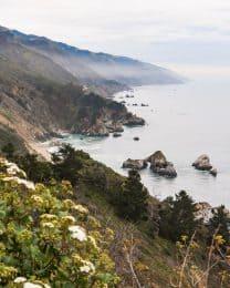 the california coastline