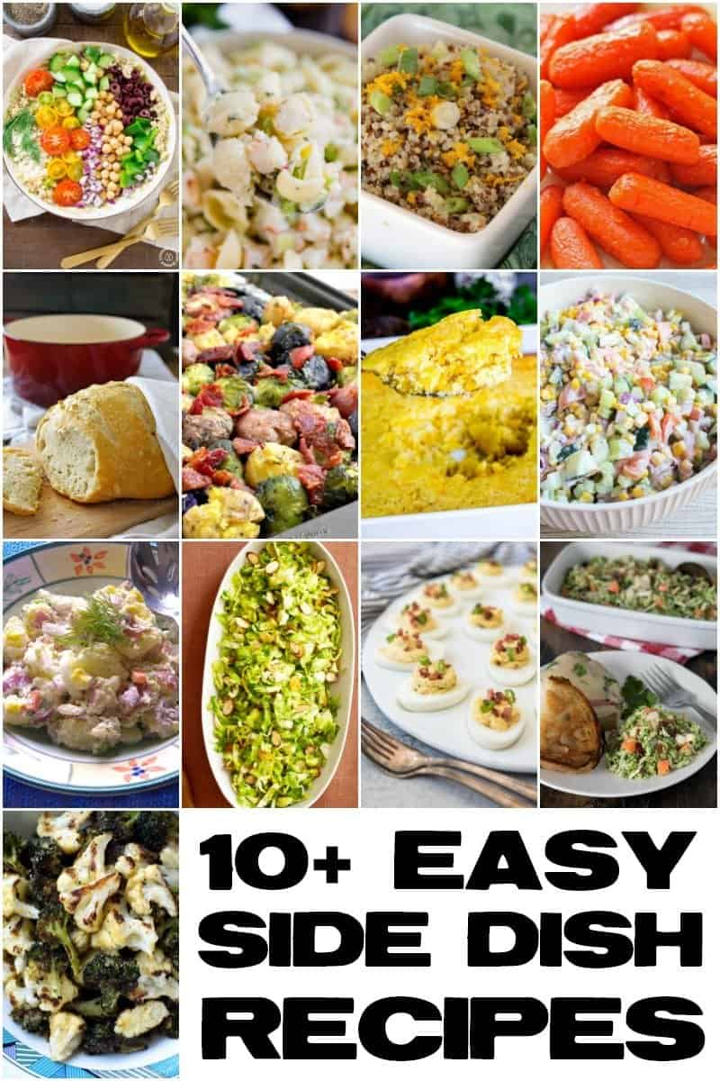 An image of 13 easy side dish recipes.
