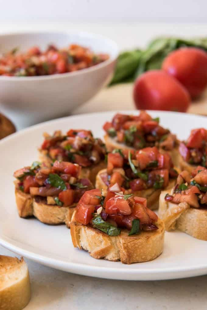 Easy Tomato Basil Bruschetta House Of Nash Eats