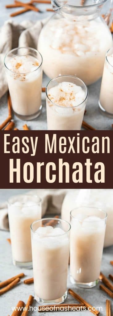 This Horchata Mexican drink is aa slightly creamy, non-alcoholic agua fresca flavor made with cinnamon and rice and is perfectly refreshing.