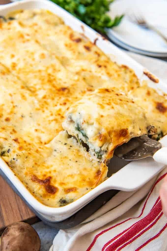 White Chicken Spinach Lasagna House Of Nash Eats