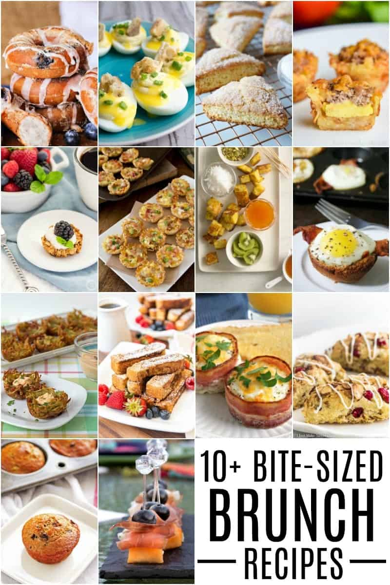 10+ bite-size brunch recipe ideas that are perfect for Mother's Day!