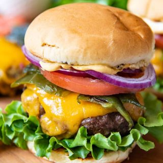Grilled Poblano Pepper Southwest Burgers