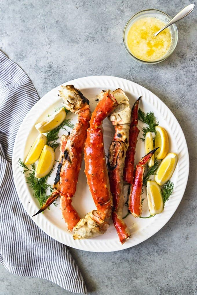 If you have ever wondered how to cook Alaskan King Crab Legs on the grill, this simple approach makes it less scary and a great idea for a special occasion meal, especially when you get to dip the rich, wonderful crab meat in an easy, simple lemon garlic butter sauce!