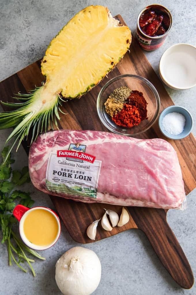 ingredients needed to make pork tacos al pastor