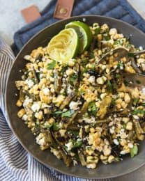 Grilled Cactus and Corn Salad