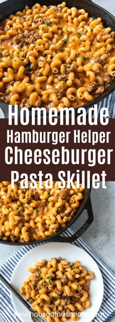 homemade hmburger helper cheeseburger pasta skillet