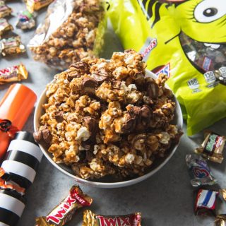 Twix Caramel Popcorn & Halloween Poppers