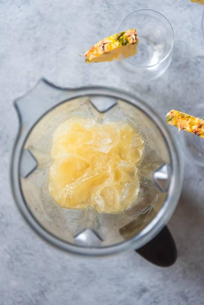 An image of an easy virgin pina colada mocktail recipe.
