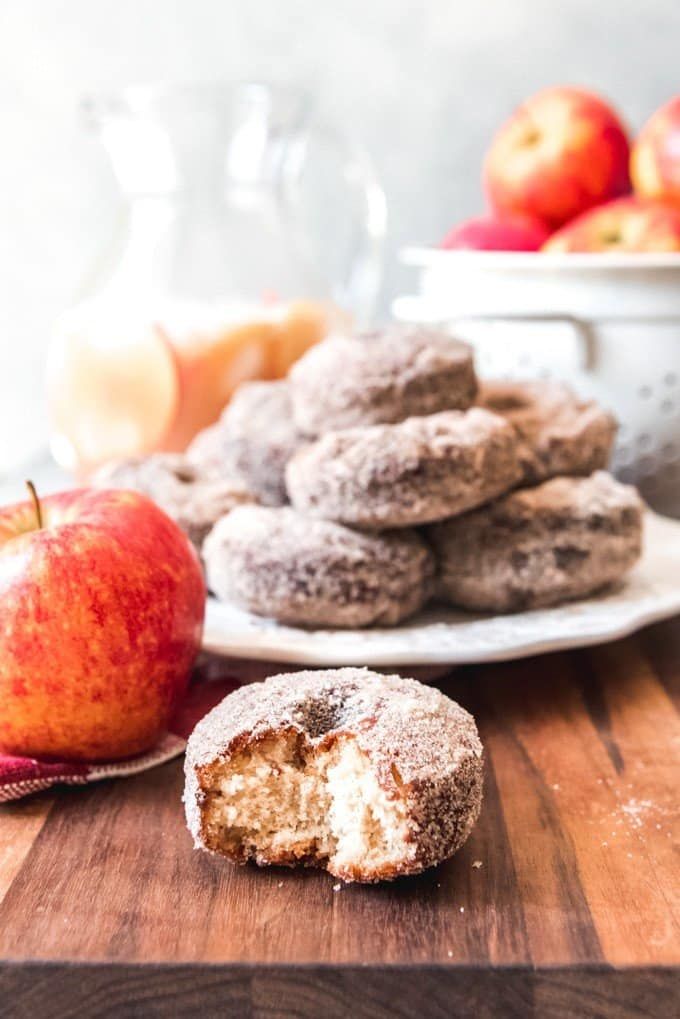Apple Cider Donuts are a sweet treat that should be added to your fall bucket list this year!  Sweet, apple-scented donuts with a cinnamon-sugar coating on the outside, these donuts are perfect for the fall season.