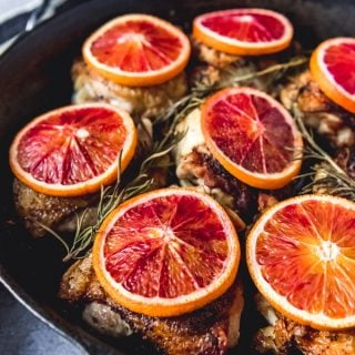 Cast Iron Blood Orange Chicken Thighs